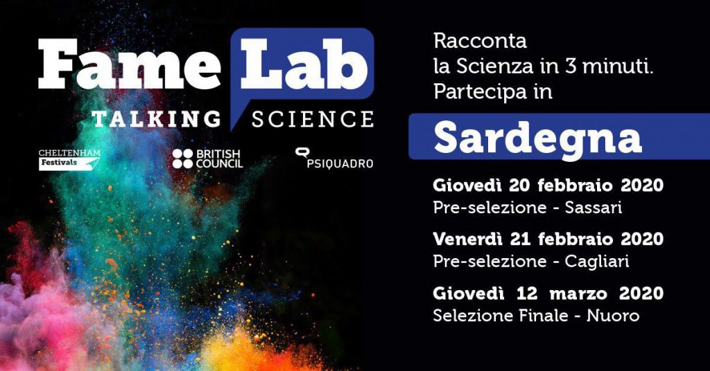 Cercasi Talenti Scientifici per FameLab 2020
